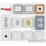 آبجکت کلید و پریز  Legrand switchers and sockets